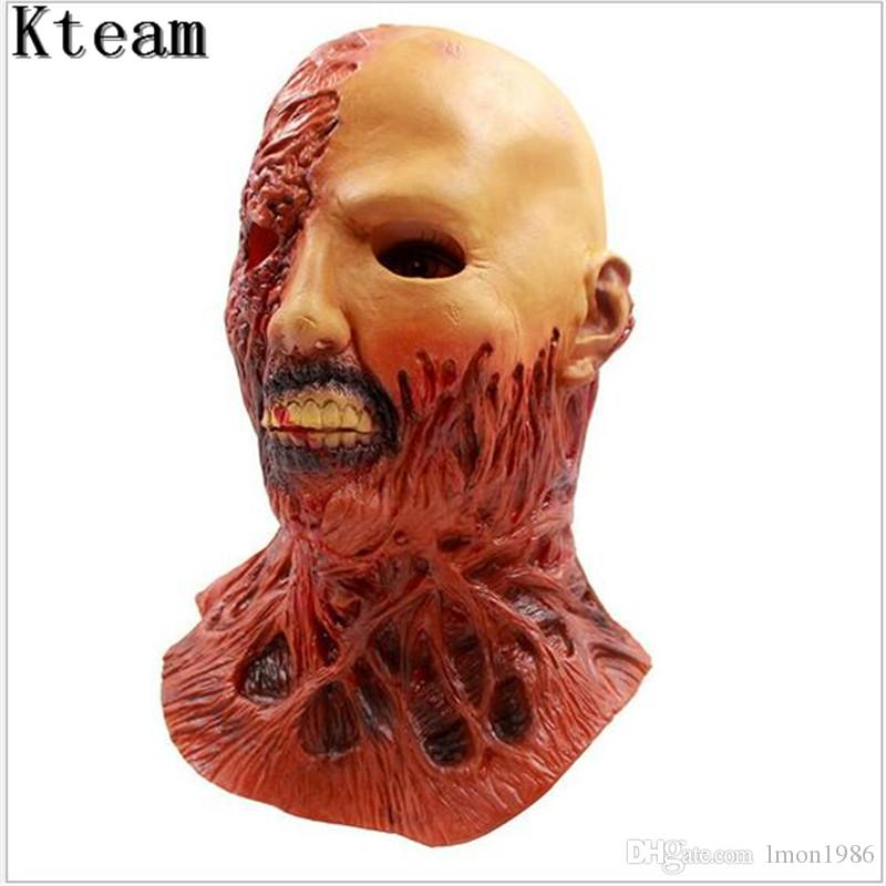 2017 New hot Horror Halloween Cosplay Latex Costume Bloody Zombie Mask Melting Full Face Walking Dead Scary Carnival Mardi Gras Party Masks