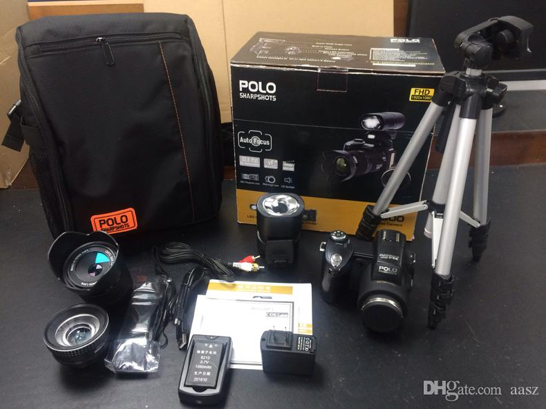 2017 PROTAX D7300 digital cameras 33MP Professional DSLR cameras 24X Optical Zoom Telephotos& 8X Wide Angle Lens LED Spotlight Tripod