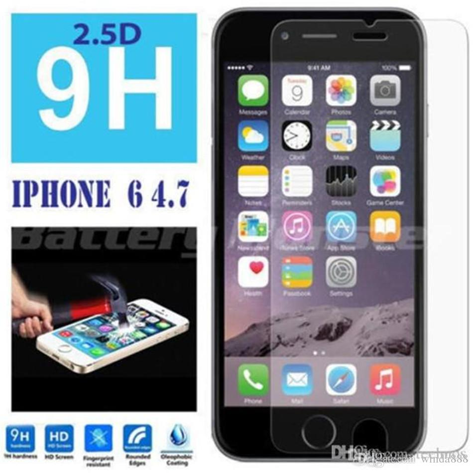 High Quality Tempered Glass Toughened Membrane Automatic Sticker For iphone 4 5 5s 6s 6plus 7 7Plus Free Ship