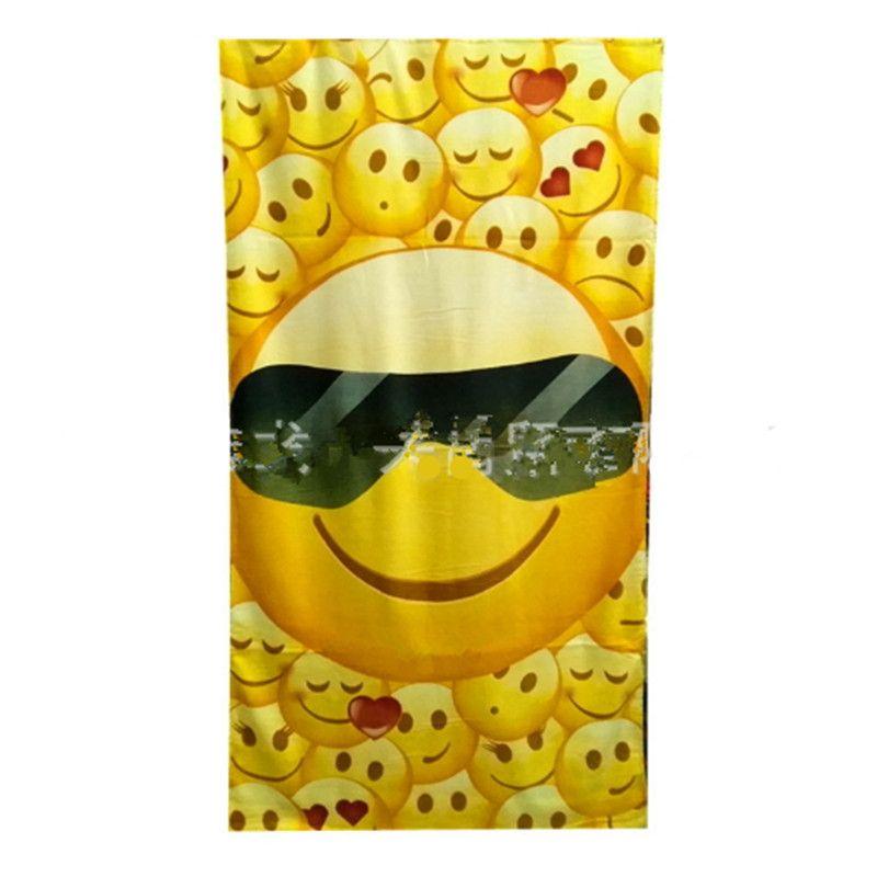 3aeca458b04c Bath Towel Emoji Smiling Face Pattern Printing Printed Shawl