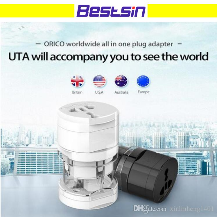 UTA All in One Global International Plug Adapter Port World Travel Power Charger Adapter with AU US UK EU Converter Plug Free Shipping
