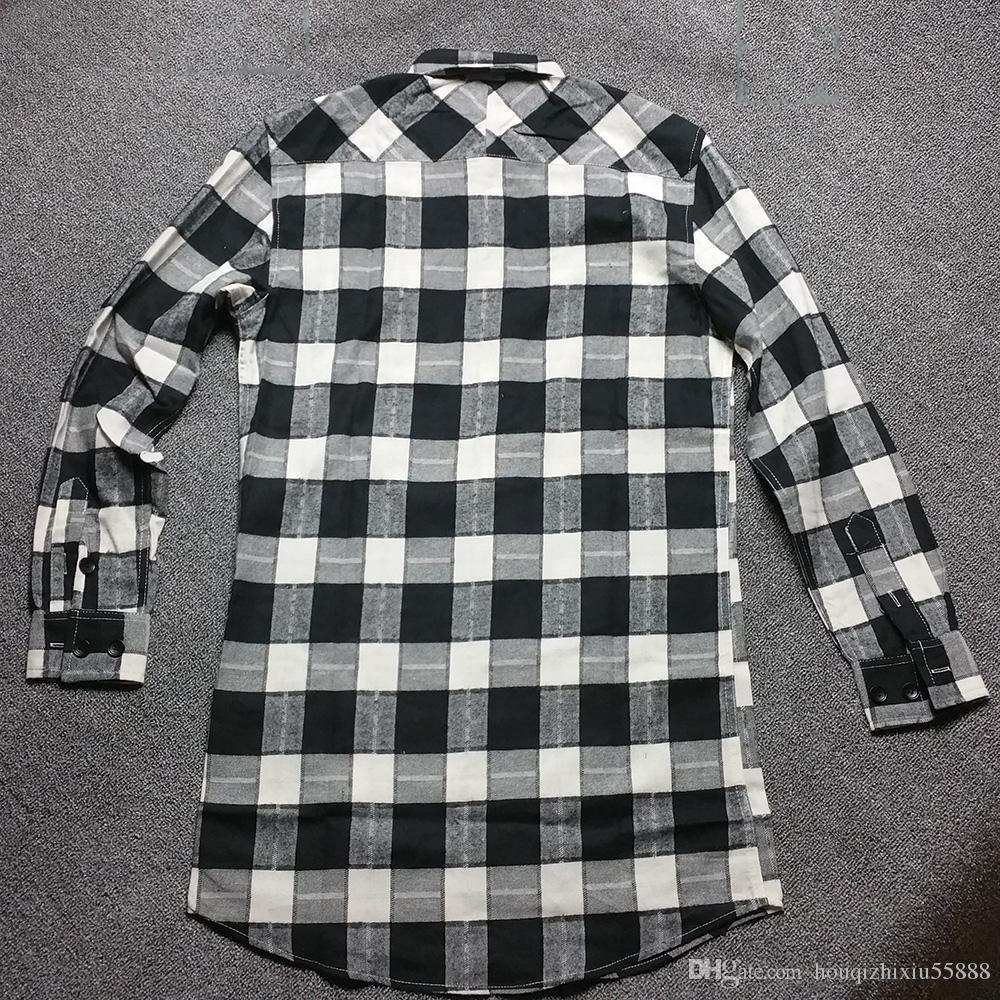 Mens Black And White Plaid Dress Shirt Joe Maloy