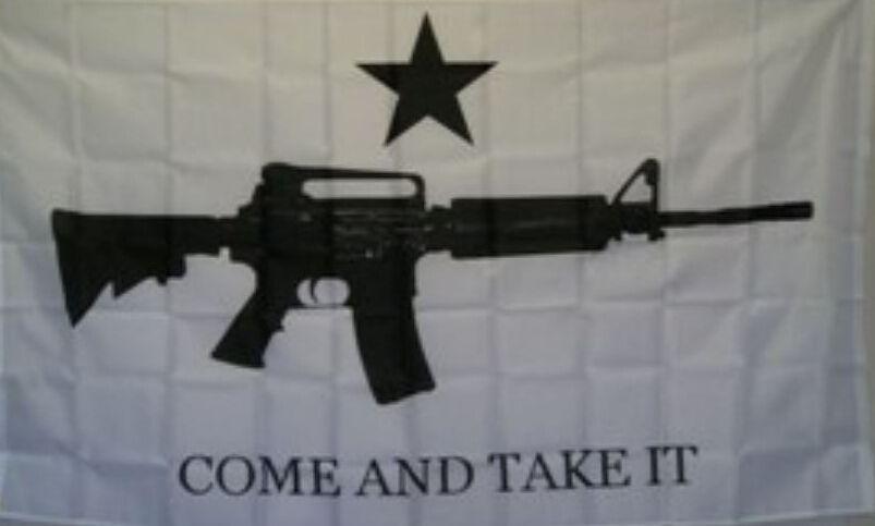 Vem tomar-lhe M4 Carbine Gun Bandeira 3 pés x 5 pés de poliéster bandeira do vôo 150 * 90 centímetros bandeira personalizada ao ar livre