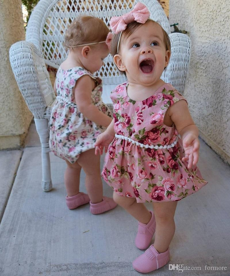 Children Costume Toddler baby girls rompers floral girl bodysuit boutique kids clothes newborn PP bubble jumpsuit ruffle romper outfit