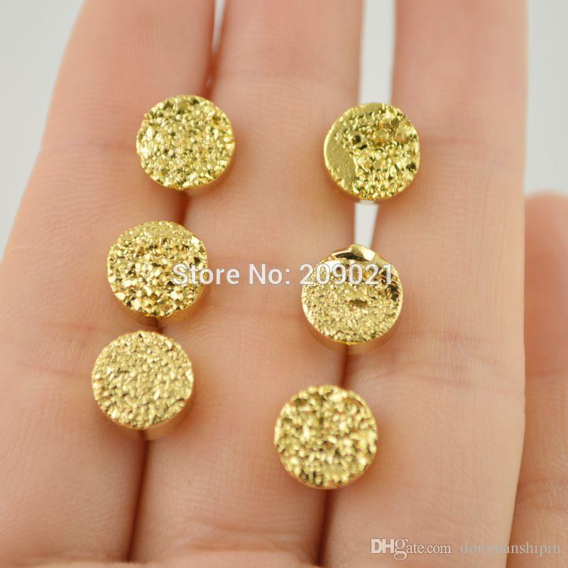 2018 New Trendy Gold Plated Stone Stud Earrings Jewelry For Women ...