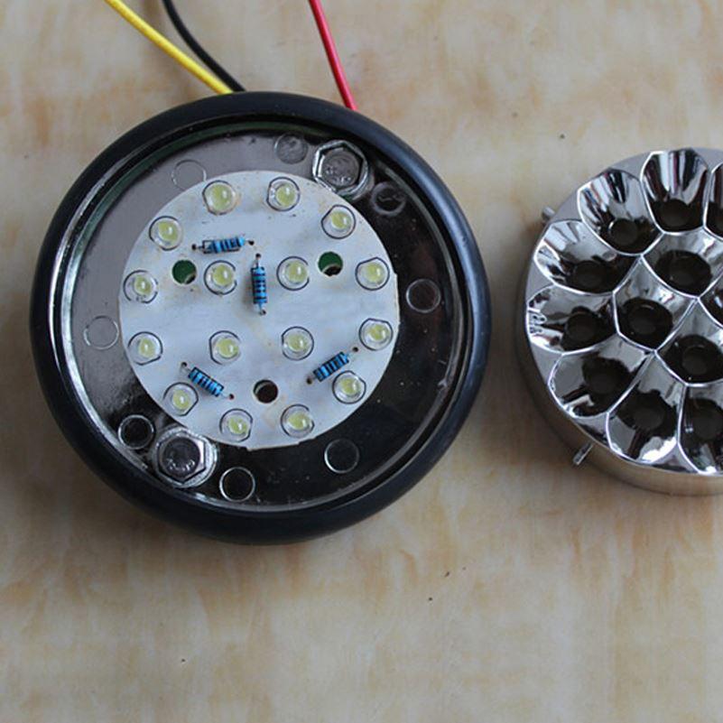 16 LED Car LED Indicatore di direzione 24V Rimorchio camion Indicatore di direzione laterale Lampada automatica Lampada rossa blu giallo bianco verde