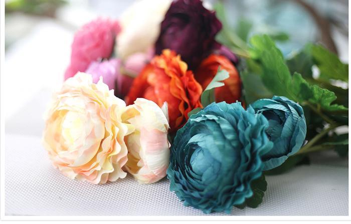 MOQ Realistic Spring Artificial Lotus Silk Flower Peony Arrangement Wholesale weddding or Home Room Charming Decoration