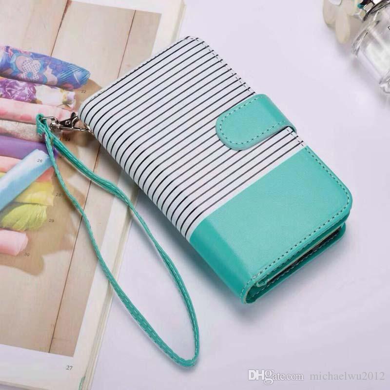 Cartera de cuero Folio teléfono Case Book Design con soporte y tarjetas de identificación Slots Cierre magnético TPU Interior Case para iPhone X 5.8 pulgadas