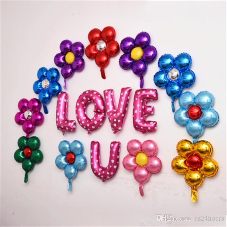 50cm cinq fleurs feuille d'aluminium ballons beaux jouets mariage faveurs et cadeaux fête d'anniversaire décoration ballons