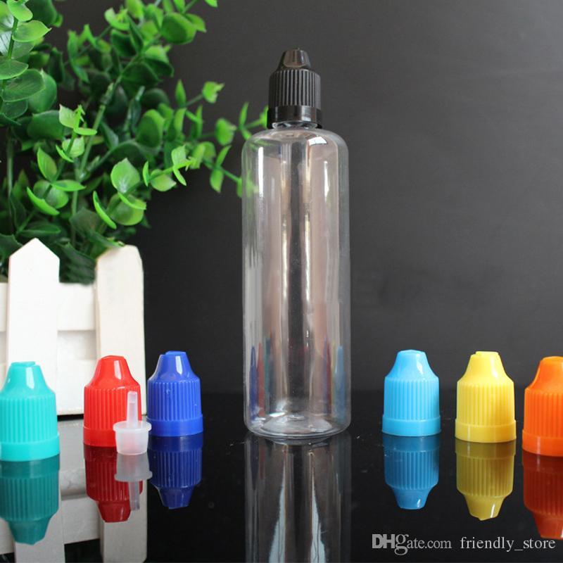 Hot Style e cig plastic dropper bottles 100ml With Child Resistant Cap For E liquid, Empty Eye Drops Bottle