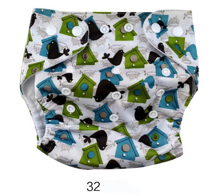 47 Designs Baby Windeln TPU Druck wasserdichte Wickeltasche waschbar Schnalle ohne Einsätze atmungsaktiv einstellbar Baby Windeltuch