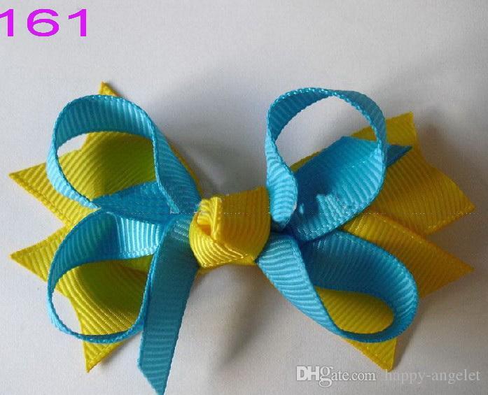 20st Baby Girls '3,5 tums hårbågar Clips Grosgrain Ribbon Hair Band Hairpin Headwear Hair Elastic Tillbehör HD3551