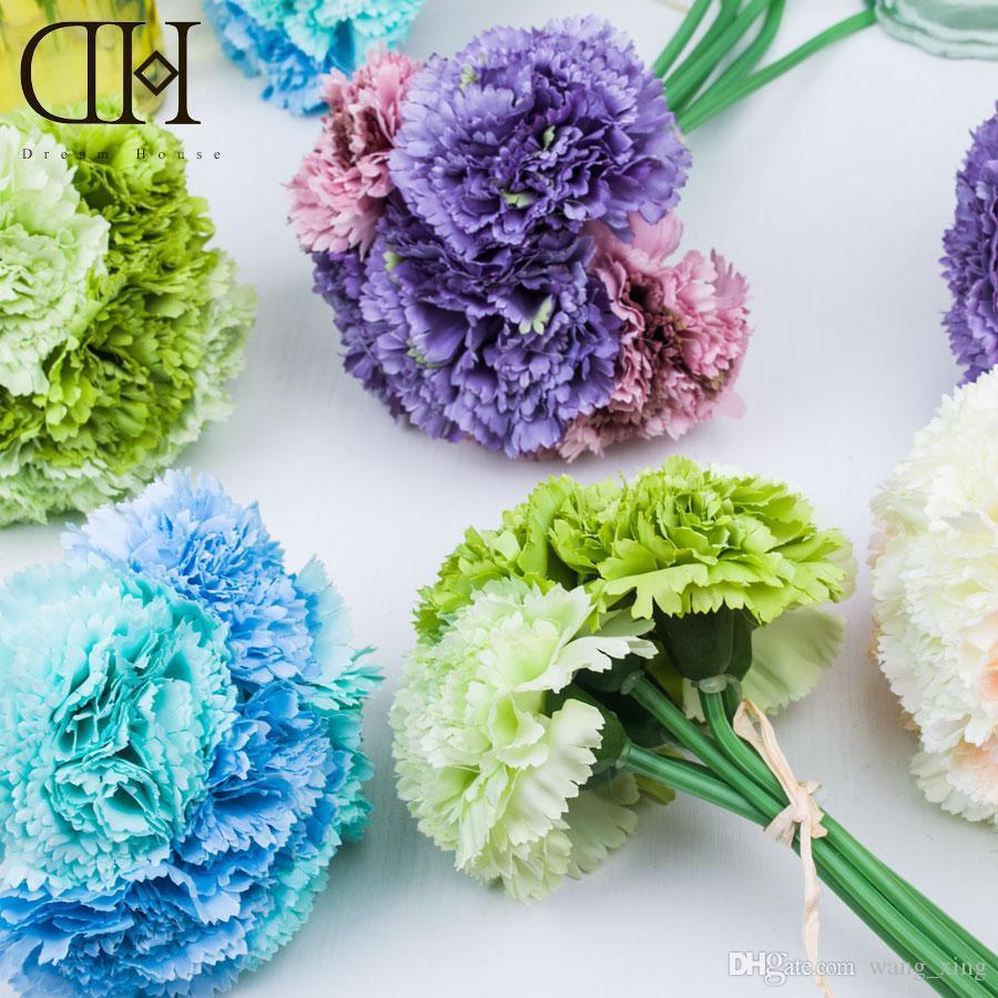 2017 dh carnation artificial flower bouquet flowers for sale