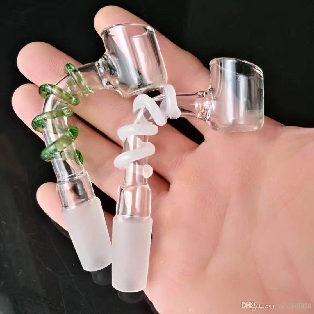 Los nuevos discos miran fijamente, Bongs de cristal al por mayor, tubos de agua de cristal del quemador de aceite, accesorios del tubo de humo
