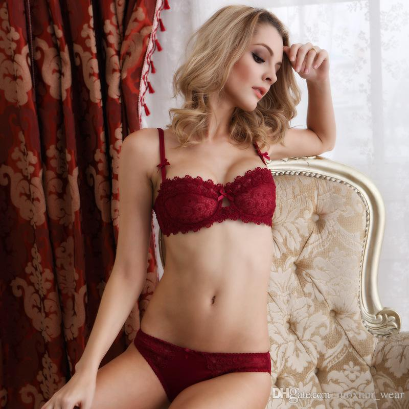 bc3eb5c70d 2019 MoXian Underwear Sets New Hot Salling Comfortable Bra Suit Sexy Lace  Comfortable Slim Transparent Bra Ms Sexy Lingerie Bra Set QN34608009Z From  ...