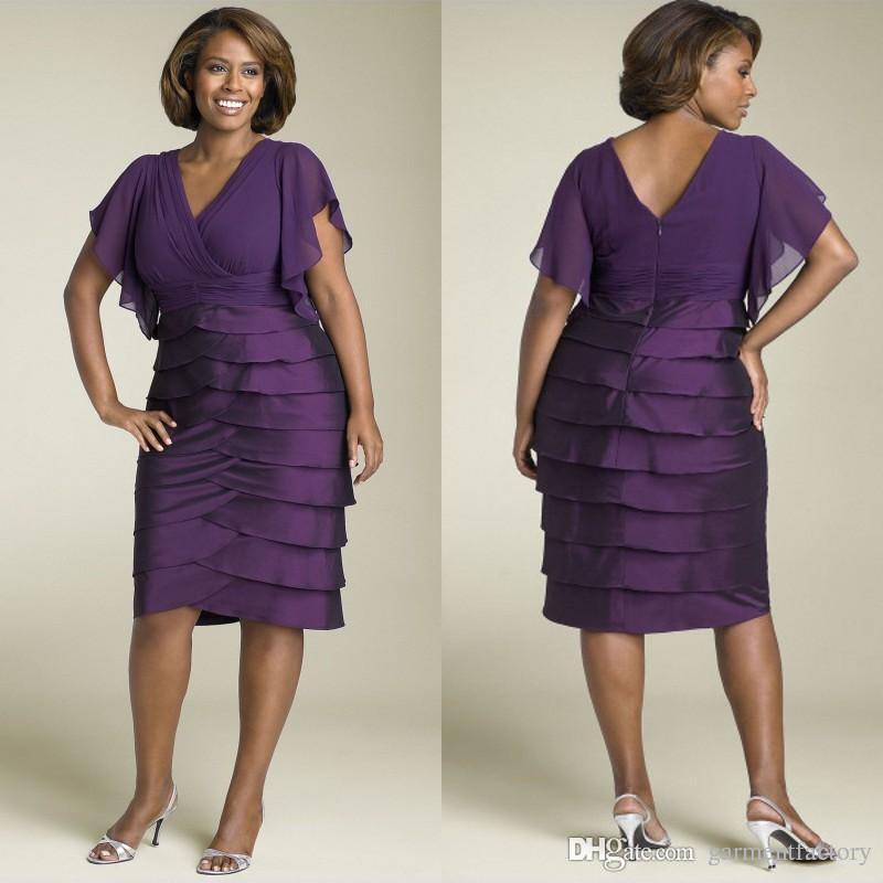 Compre Vestidos De Color Púrpura Para La Madre De La Novia Más El ...