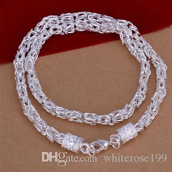 Großverkauf - Kleinster Preis des Verkaufs Weihnachtsgeschenk 925 silberne Art und Weise Schmucksachen freies Verschiffen Halskette N048