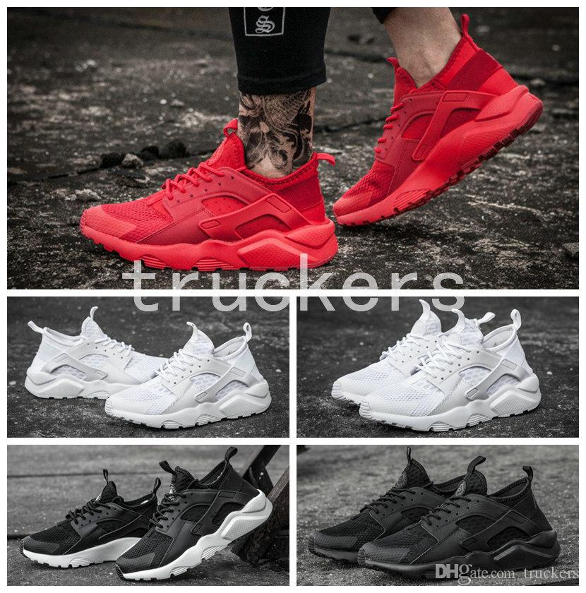 2017 New Design Air Huarache 4 Running Shoes All Red Huraches Ultra Breathe  For Men Women Huaraches Athletic Hurache Sports Sneakers Best Running Shoes  For ... 64d28000f
