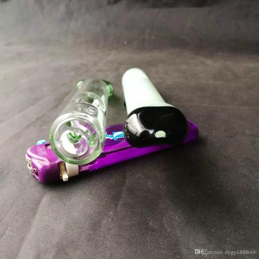 Tubo di vetro bong di vetro, tubo di acqua di vetro, fumo, collettore di cenere della piattaforma petrolifera, bruciatore di olio