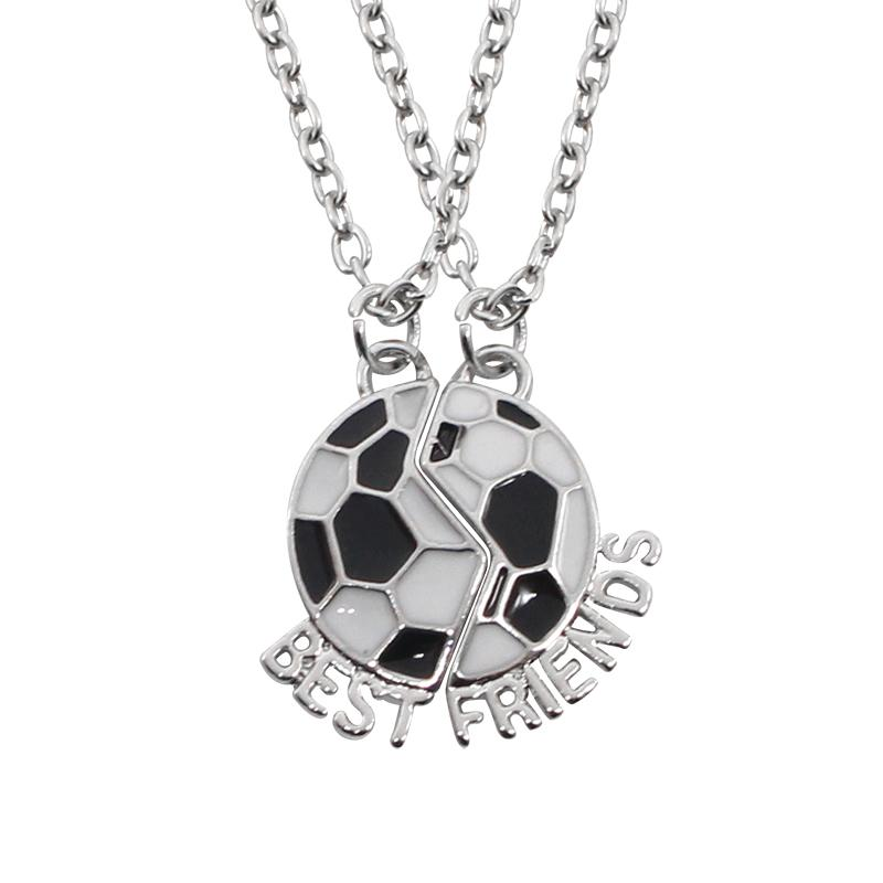 Wholesale creative football buddy best friends necklaces for 2 best wholesale creative football buddy best friends necklaces for 2 best friend bff soccer necklace black and white cute friendship gift for jewelry heart aloadofball Choice Image