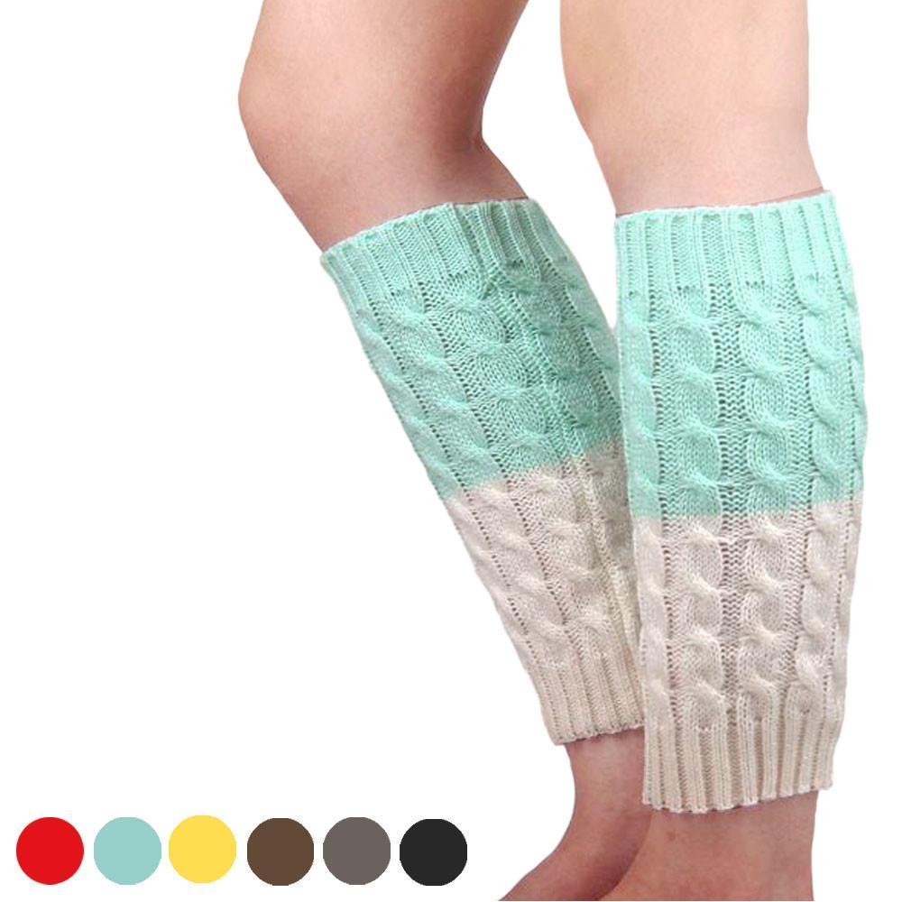 Al por mayor- Las últimas mujeres rusas señora invierno ganchillo de punto  calcetines botas de pierna más cálida cubierta Legging Warmmer pierna ...
