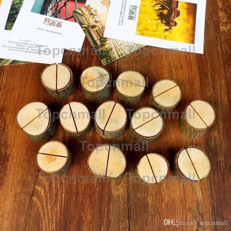 Creative Wood Place Card/Photo Number Name Holder For Vintage Rustic Baby Shower Wedding Party Table Decoration TPML-2159