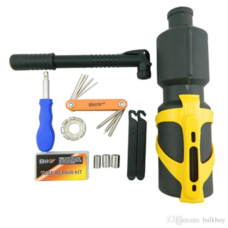 BOY 8010U Water Bottle Tools/MTB Bike Bicycle Repair Tools 19 in 1 Multifunctional Tool Set Kit Cycling bike Portable Repairing Tool Set