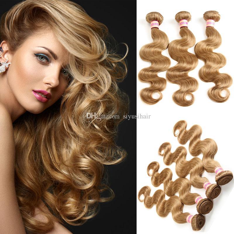 Malaisien indien des cheveux vierges brésiliens bundles de la vague de corps péruvien se tisse de couleur naturelle # 1 # 2 # 4 # 27 # 99j # 33 # 30 extensions de cheveux humains