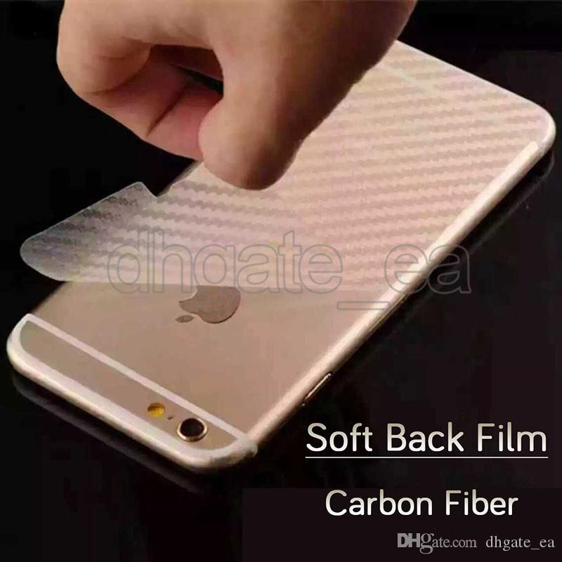 Anti-fingerprint screen protector soft carbon fiber mobile phone back clear cover explosion proof film for iphone 7 iphone 7plus 6s 6s plus