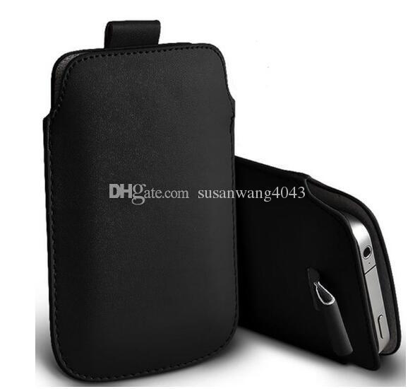 Moda evrensel cep telefonu çanta pu deri cüzdan durumda çantası çekme tab çantası iphone 7 6 6s 5 5s telefonu çantası kablosu gz369