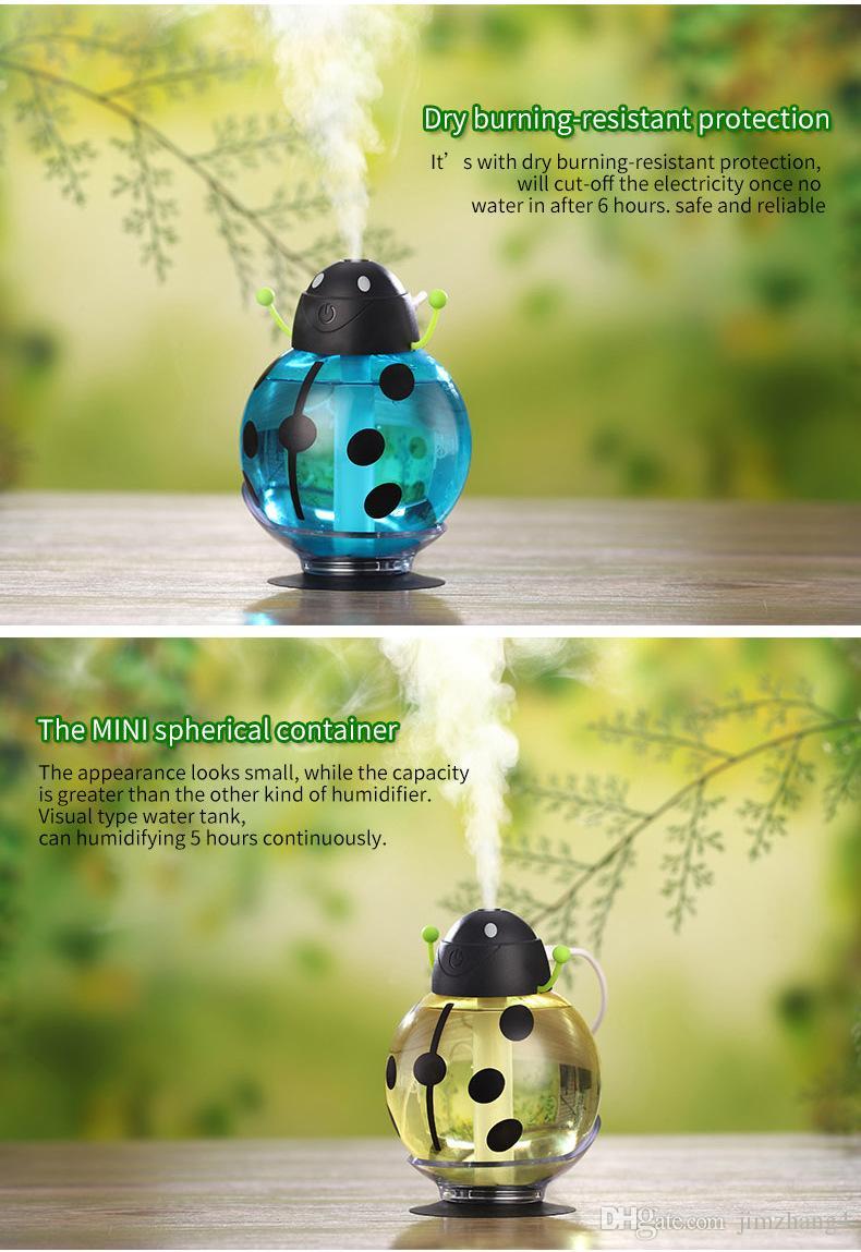 GX02-3, Livraison gratuite, Humidificateur USB Humidificateur Aromathérapie Diffuseur pour Voyage à la maison Mist Maker Humidificateurs Fogger avec Rotation à 360 Degrés