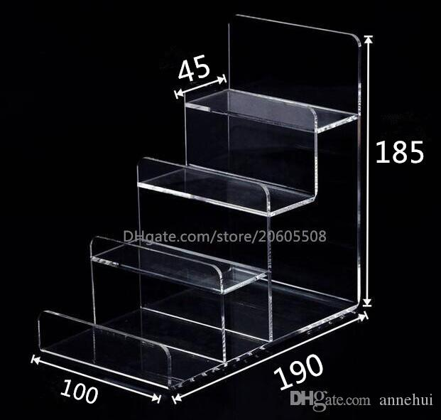 Multifunction Acrylic Mobile Phone U Disk Jewelry Display Stand Holder Digital Products Purse Wallet Rack Showcase Bracelets Display