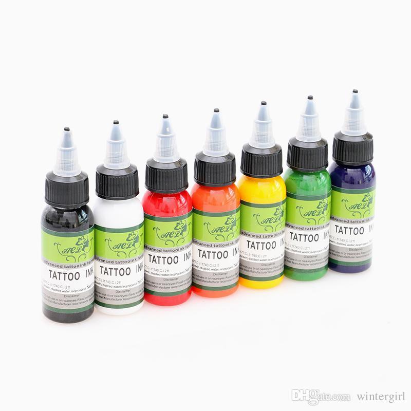 Top qualité professionnelle tatouage pigment 7 couleurs d'encre de tatouage 30ml pour machine à tatouer Kit Supply INK417