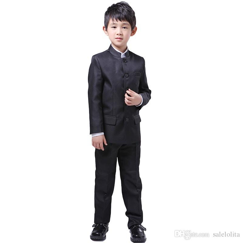 0251ec27 Kids Chinese Ancient Tunic Suit Blazers Set Wedding Breasted Formal Boys  Casual Suits Children Disco Costume Pet Halloween Costumes From Salelolita,  ...