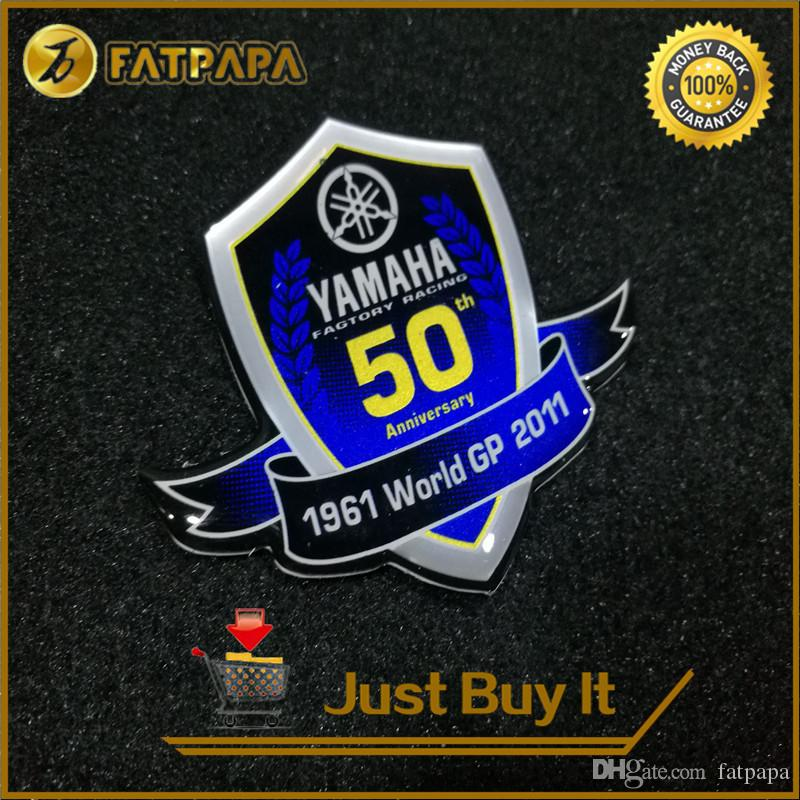 2018 3d logo motorcycle decals stickers for yamaha 50th anniversary edition yzf 600 1000 r1 r6 r3 tmax 500 530 from fatpapa 9 05 dhgate com