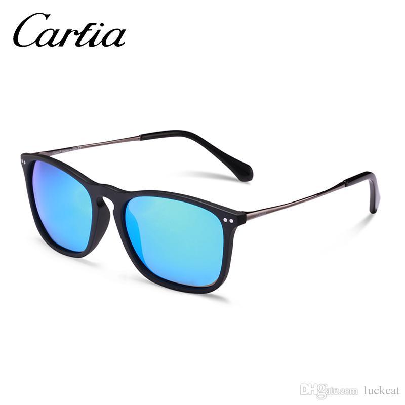 e7a4e0b0613 Compre Gafas De Sol Polarizadas Para Mujeres Carfia 5200 Gafas De Sol Para  Hombres Cuadrados De Resina Vintage Lente es UV400 Con Cajas Gratuitas De 54  Mm A ...