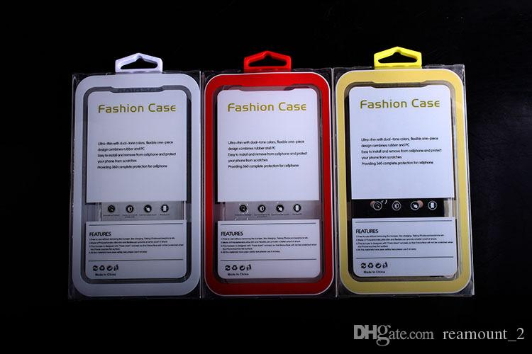Scatola d'imballaggio della bolla del PVC trasparente di alta classe all'ingrosso con il gancio speciale iphone 7 7plus il pacchetto di caso di Pixel di Google