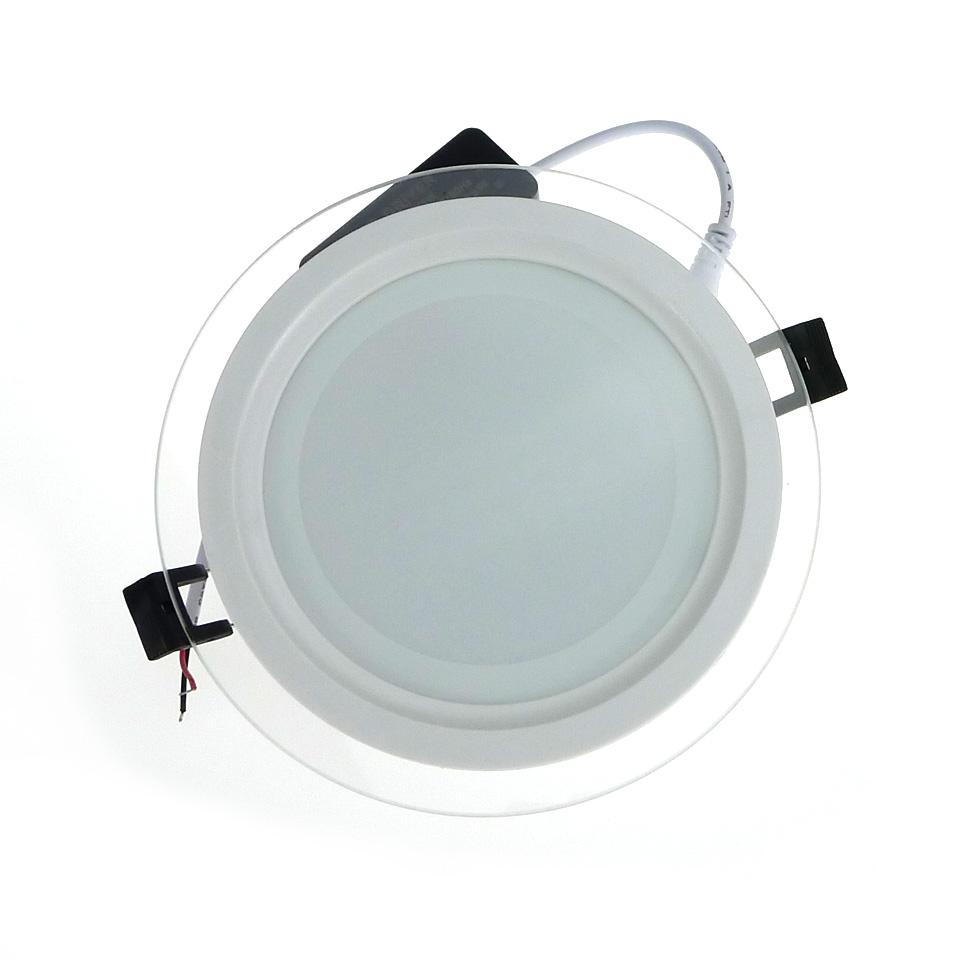 Hot Sale LED Panel Light Recessed Dimmable SMD 5630 Celing Lamp Round Spot  Lights Lamps LED Panel Downlight With Glass Cover