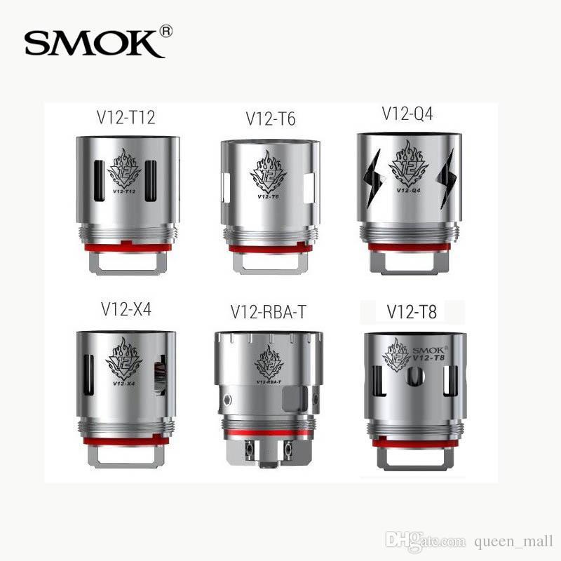 Compre Smok Tfv12 Bobina V12 T12 V12 T6 V12 Q4 V12 X4 Duodenary ...