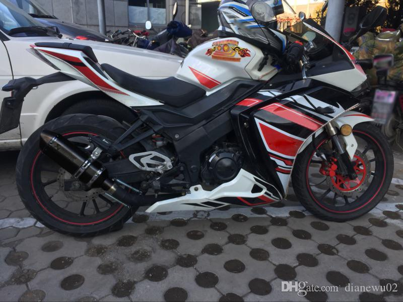 Evrensel Modifiye Akrapovic yoshimura Motosiklet Susturucu Egzoz Borusu CB400 CB600 CBR600 CBR1000 YZF FZ400 Z750 YZF600