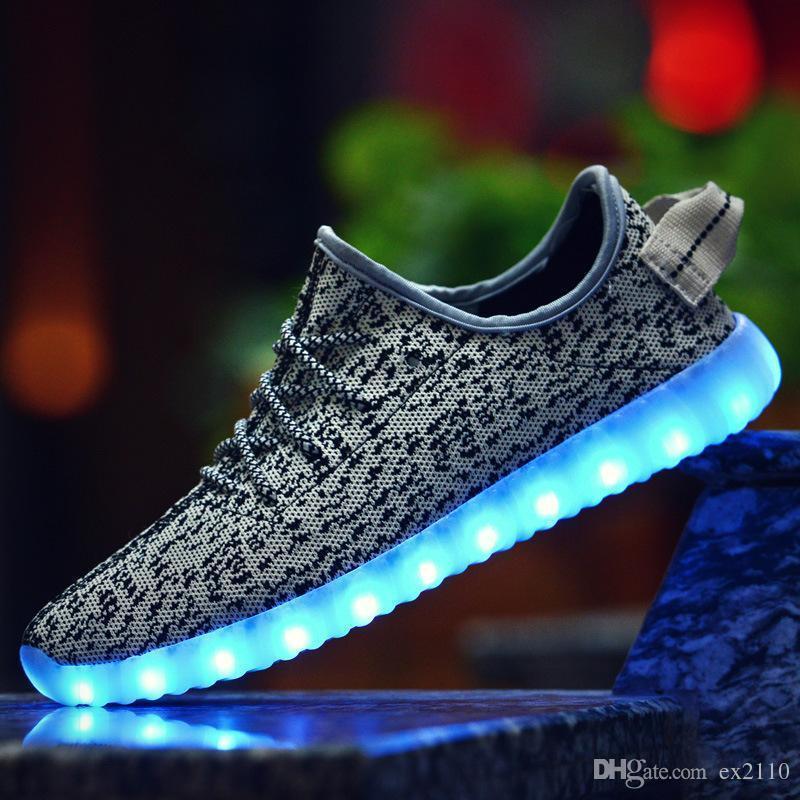 Con Para Luminosos Llevó De Zapatos Brillantes Couplecolorful Suela Luces Los Pop Bonitos Adultos Una Simulación Iluminar iPuXkZO