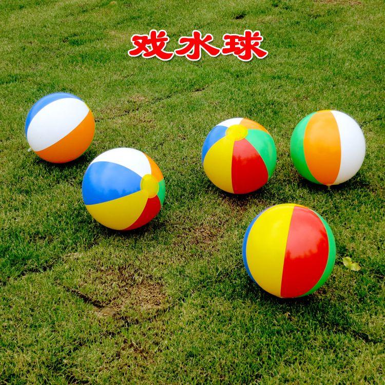 Rainbow Beach Ball 6 Colour Striped Rainbow Beach Ball Outdoor Beach Ball Water Sports Balloon Best Gift For Kids
