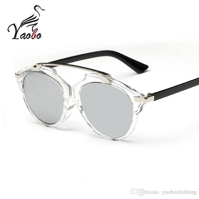 b56d416e40 Yaobo Women Retro Sunglasses Classic Lunette Glasses Cable Eye Piece ...