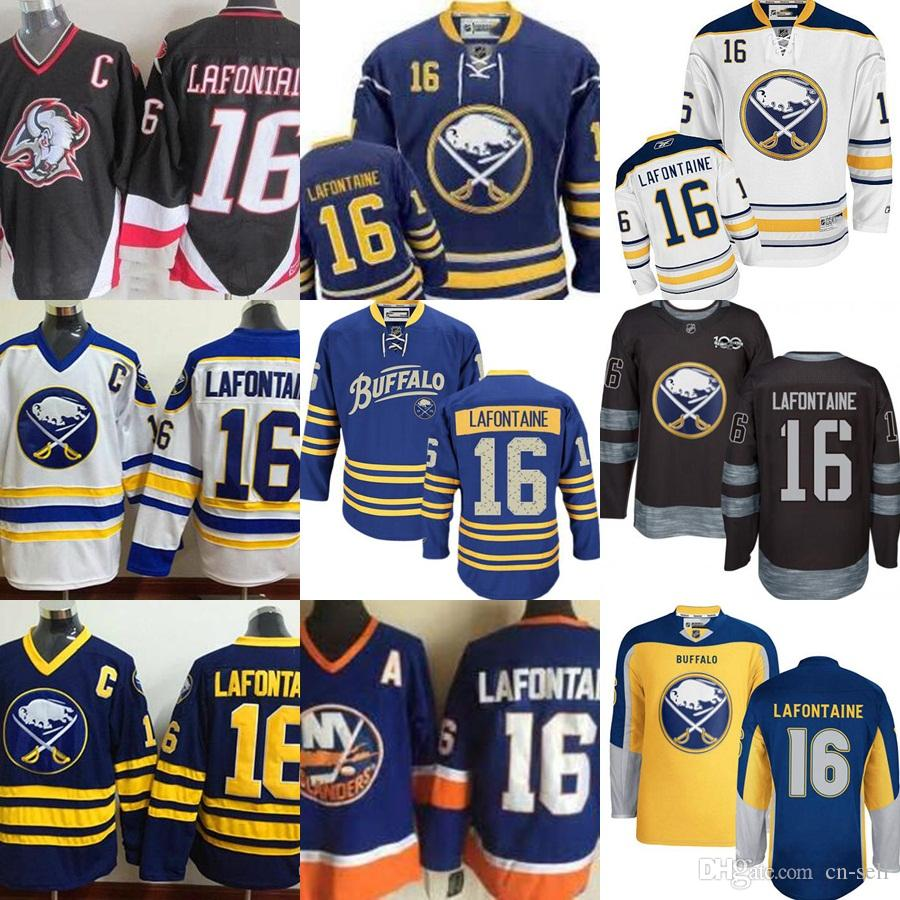 ... Home Navy Blue Best 2017 Men S Buffalo Sabres 16 Pat Lafontaine Old  Time Sweatshirts Stitched Pullover Ice Hockey 16 Youth Pat LaFontaine New  York ... 9a19e4995