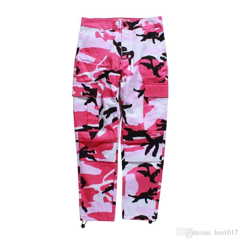 Camouflage Men's Cargo Pants Full Length 2017 Spring Multy Camo Hip Hop Pants Men Women Streetwear Toursers Men