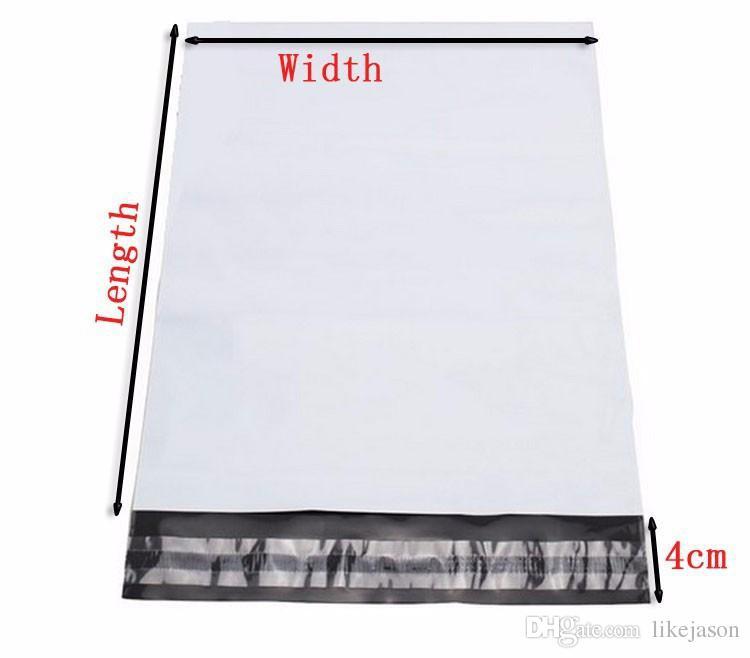Selbstklebende Dichtung Post Taschen 19 * 26,7 + 4 cm 100 stücke Paket Umschläge Versand Starke Poly Mailer Taschen Post
