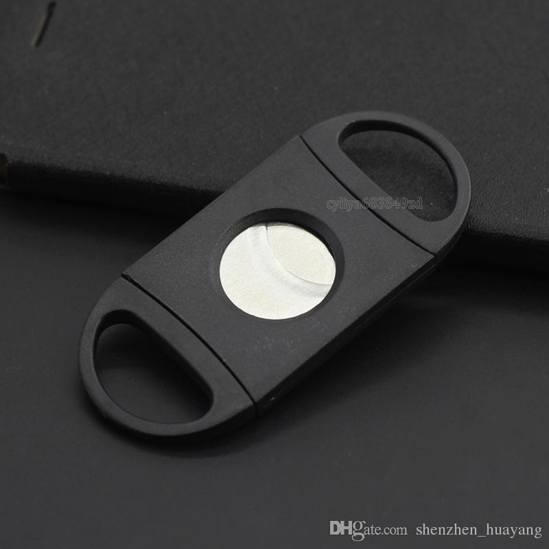 Doppio tipo di allungamento del dito Sigaro metallico Coltello sigari in acciaio inossidabile di alta qualità Accessori utensili Sigari Vendita calda 1 1xj