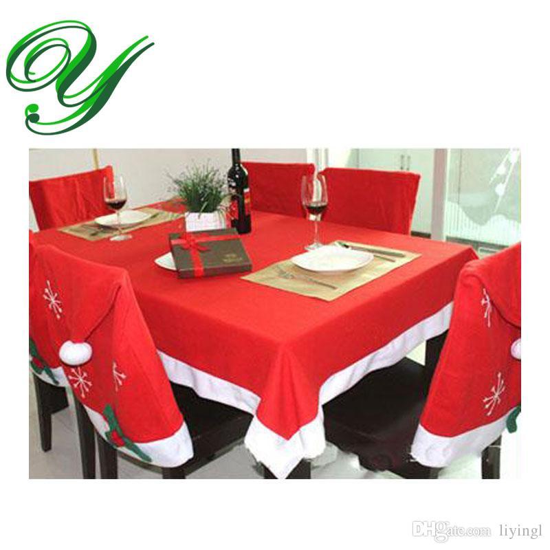 Acheter Nappes Chaise Couverture Ensemble De Noel Decoration Rouge