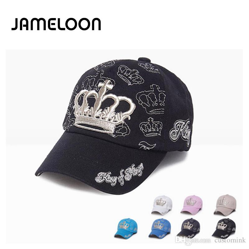 Jameloonhot Cotton Embroidery King Baseball Cap Snapback Caps Fitted