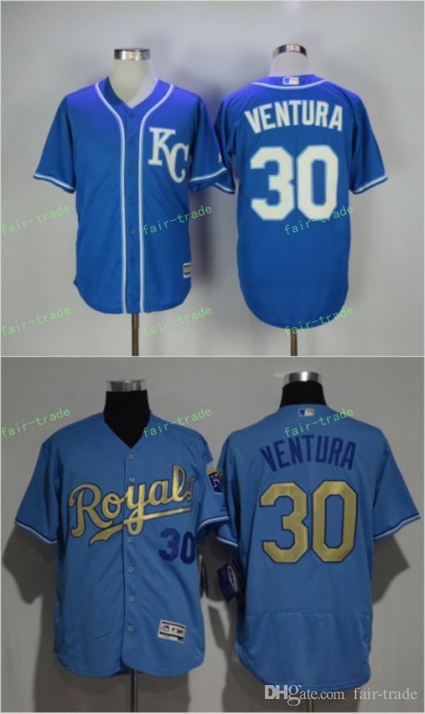 8963146a9c2 ... 2017 30 Yordano Ventura Kansas City Royals Jersey Men Kelvin ...